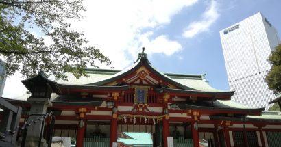 新刊のベストセラーを祈願して日枝神社に参拝
